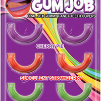 Hott Products Gum Job Oral Sex Candy Teeth  Covers  6 Pack