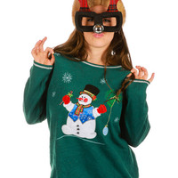 Gregarious Snowman Ugly Christmas Sweater