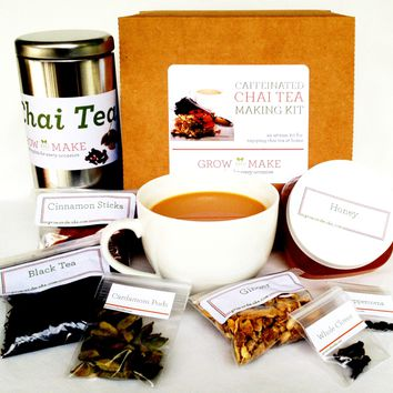 Artisan DIY Caffeinated Chai Tea Making Kit - Learn how to make your own signature chai tea blends