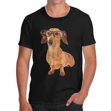 Doxie Dachshund Eyeglasses Dog T-Shirts - Men's Top Tee