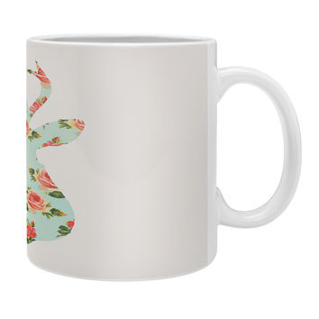 Allyson Johnson Floral Deer Silhouette Coffee Mug