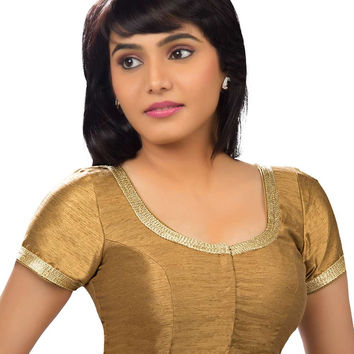 Elegant Copper Party-wear Silk Sari Blouse SNT-X-256-SL