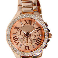 Maya Diamante Boyfriend Chain Watch
