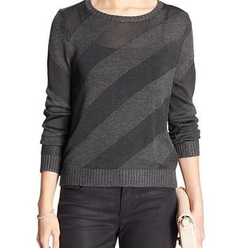 Banana Republic Factory Diagonal Stripe Sweater