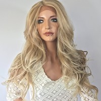 Lightest Blond Waves lace front wig 26'