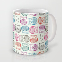 light sherbet owls Mug by Sharon Turner