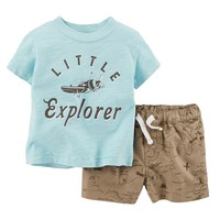 Carter's ''Little Explorer'' Tee & Map Shorts Set - Baby