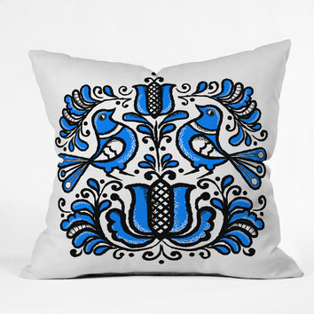Chobopop Korond Folk Art Outdoor Throw Pillow