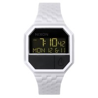 Nixon The Rubber Re-Run Watch in White and Black,Watches for Men