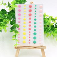 Sugar Sprinkles Self- adhesive Enamel Dots Resin Sticker for Scrapbooking DIY Crafts Card Making Decoration
