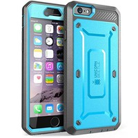 iPhone 6S Case, SUPCASE Apple IPhone 6 Case / 6S 4.7 Inch [Unicorn Beetle Pro] Rugged Holster Cover with Builtin Screen Protector (Blue/Black)