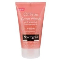 Neutrogena® Oil-Free Acne Wash Pink Grapefruit Foaming Scrub- 4.2 Oz : Target