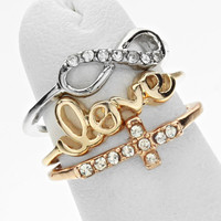 Cross Infinity Knuckle Ring Set