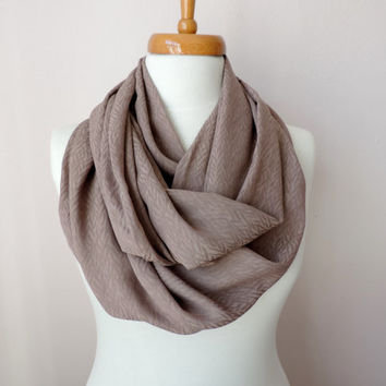 Infinity Circle Scarf, Beige Fashion Scarves,  Women's Fashion Accessories