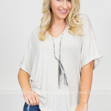 Happy Days Loose Top | Neutrals