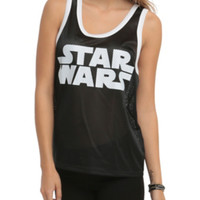 Star Wars Logo Mesh Girls Tank Top