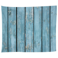 Teal Exterior Tapestry