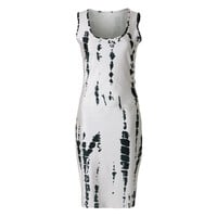 Sexy Scoop Neck Sleeveless Printed Cut Out Bodycon Women's Dress