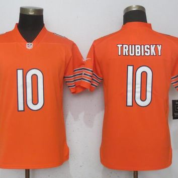 Women Nike Chicago Bears 10 Trubisky Orange 2017 Vapor Untouchable Elite Playe