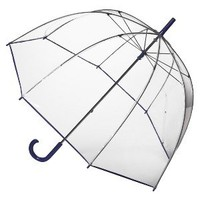 Totes Clear Bubble Umbrella - Purple Trim