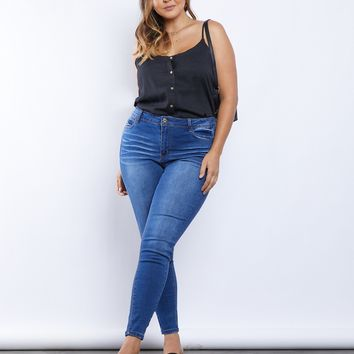 Plus Size Plain And Simple Jeans