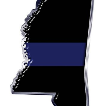 Thin Blue Line Mississippi State Decal