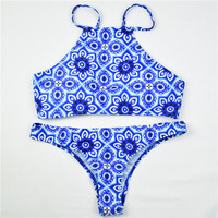 Print Beach Bathing Suit Push Up Bikini Swimwear For Women Swimsuit