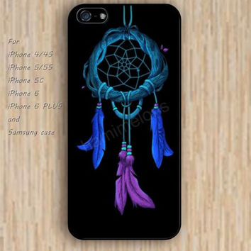iPhone 5s 6 case Cartoon dream catcher feathers colorful phone case iphone case,ipod case,samsung galaxy case available plastic rubber case waterproof B553