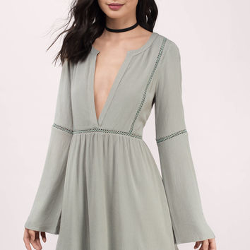 Trina Plunging Shift Dress