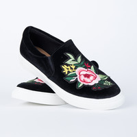 Slip into Floral Sneakers