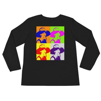 Audrey Hepburn Pop Art Women's Ladies' Long Sleeve T-Shirt