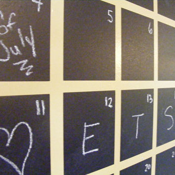 Black Chalkboard Vinyl Decal  Wall Calendar by HouseHoldWords