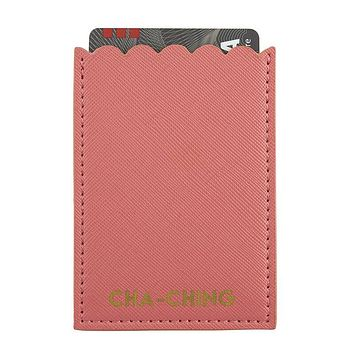 Cha Ching Phone Pocket in Coral Pink