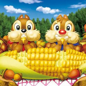 5D Diamond Painting Chip and Dale Corn on the Cob Kit