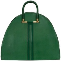 Hermes Vintage Oversize Bengale Green Tote Travel Bag