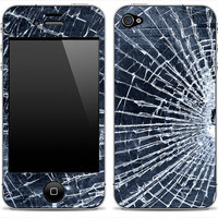 Shattered glass iPhone Skin FREE SHIPPING