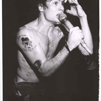 Henry Rollins Black Flag London 1983 Poster 24x33