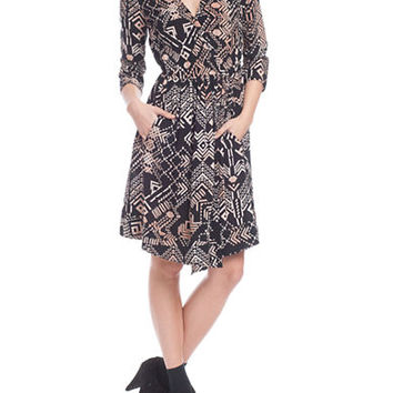 Plenty By Tracy Reese Graphic Print Faux Wrap Dress