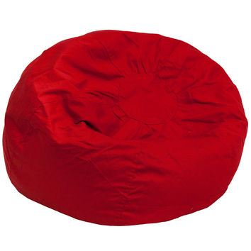 Oversized Solid Red Bean Bag