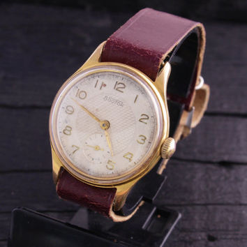 Vintage classic Boctok watch gold plated russian watch ussr cccp