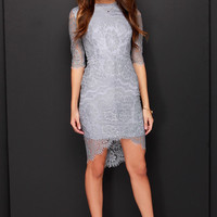 Angel Eyes Grey Lace Dress