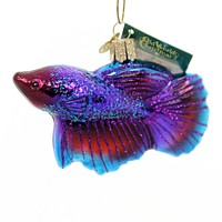 Old World Christmas BETTA FISH Glass Fighting Fish Grace 12384
