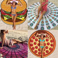 Fashion print Handkerchief Indian Mandala Tapestry Summer Beach Hippie Throw 150*150cm