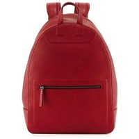 Red Calf Leather Backpack by Maison Martin Margiela