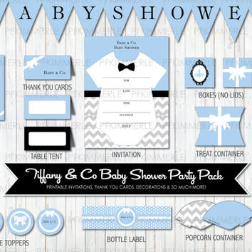Baby & Co. - Baby Blue Tiffany Inspired Baby Shower Party Pack Bundle