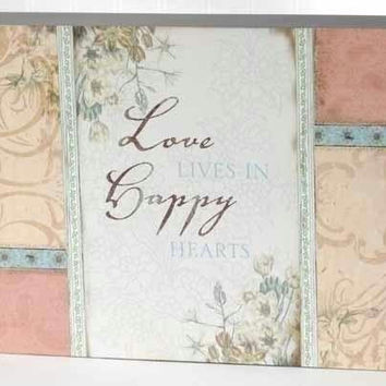 "2 Wall Plaques -  "" Love Lives... """
