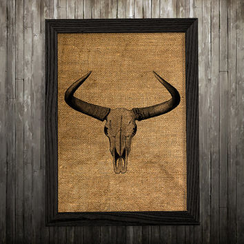 Bull skull poster Animal print Anatomy print Skull decor BLP553
