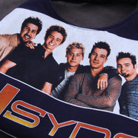 NSYNC - Upcycled Rock Band T-shirt Purse - OOAK
