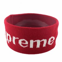 Supreme 2018 new men and women fitness headband hair band F0701-1 red