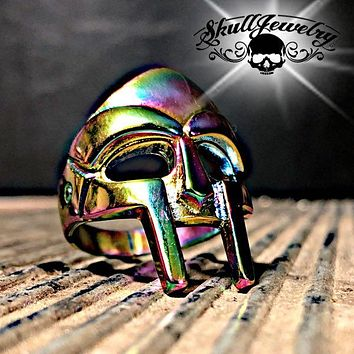 Psychedelic 'Spartan Mask' Stainless Steel Ring (186)